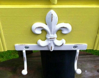 Fleur de Lis, hook, ANY COLOR, double hook.