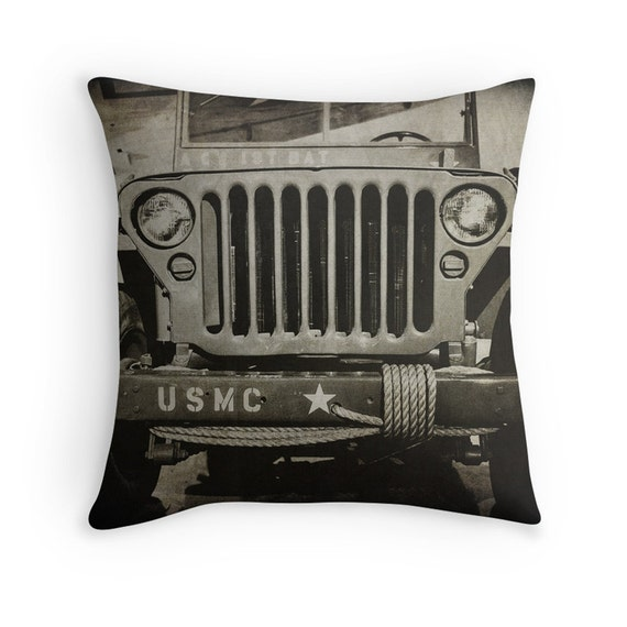 Throw Pillows Kmart : Marine Corps Jeep Photo Throw Pillow Cover Home Decor 16x16
