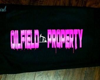 Oilfield Wife Sweats. Oilfield Wife. Oilfield Decal. Oilfield Clothes. Custom. Pump Jack. Oil Rig. Derrick. Oilfield Girlfriend.
