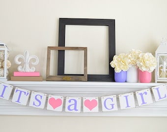 Its A Girl Banner- Baby Shower Decorations - Baby Announcements
