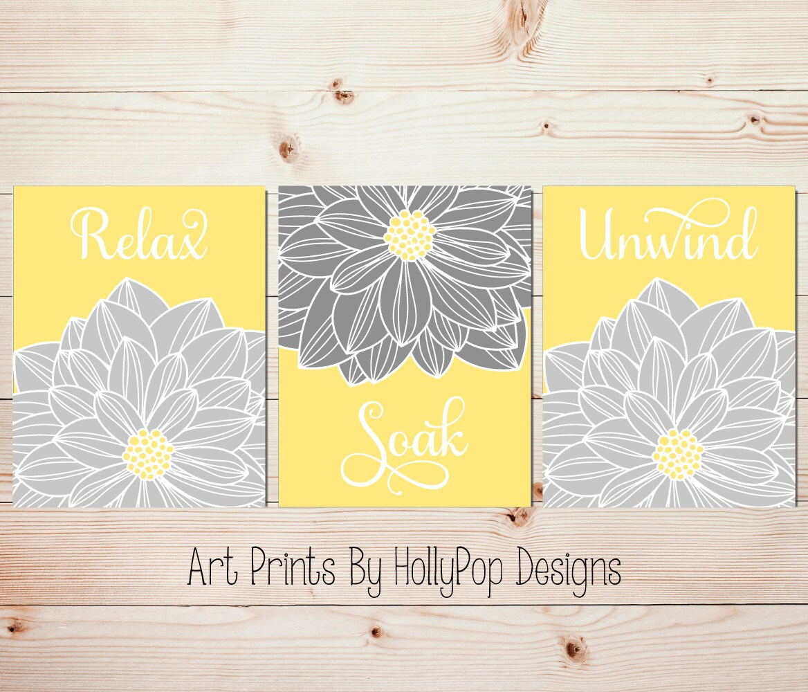 yellow wall art for bathroom | My Web Value