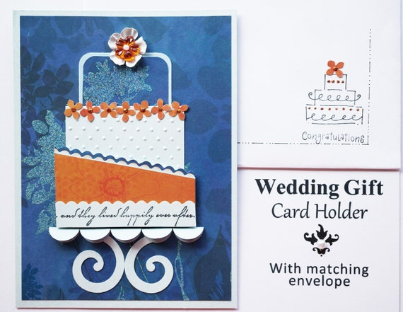 Items similar to Gift Card Holder Wedding - Wedding Navy Blue and ...