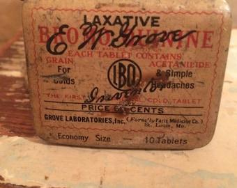 Vintage - Laxative Tin - 1920's - Very Rare