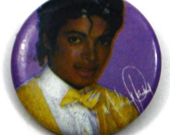 Vintage 80s Michael Jackson Pinback Button Pin Badge