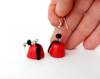 Dr Who Earrings - Fez Earrings