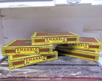 5 Cardboard Emanelo Cigar Boxes for Crafting Projects B20