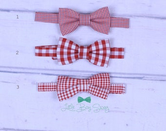Boy Christmas Bow Tie, Boys Bow Tie, Toddler Bow Tie, Red Bow Ties, First Birthday Boy, Birthday Bow Tie, Cake Smash Bow Tie, Kids Clothes