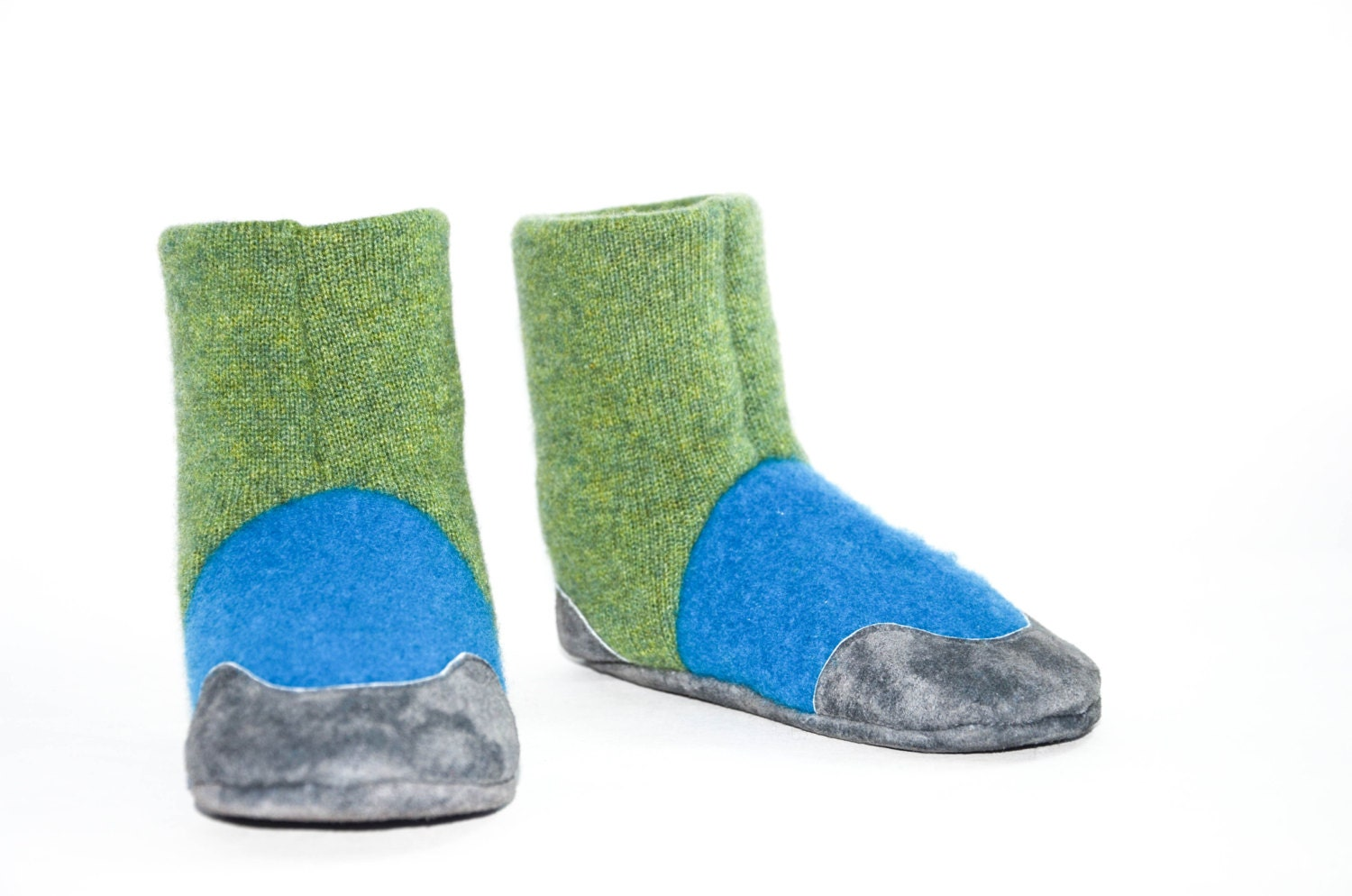 Cashmere Slipper Socks With Non Slip Leather Soles Kids Eco