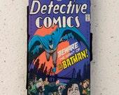 iphone 4, 5 or 6 - flip case - vintage - Batman - Detective comic - illustration - Galaxy S3, S4, S5, mini