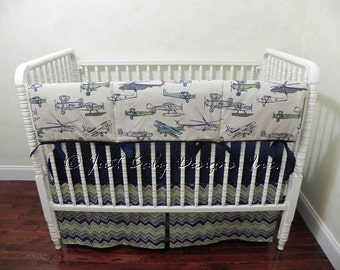 Airplane Crib Set Etsy
