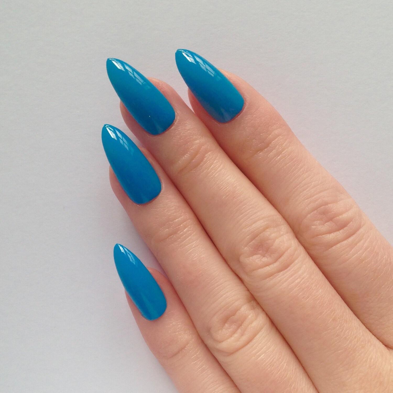 Stiletto Nail Art: Blue Stiletto Nails Nail Designs Nail Art By