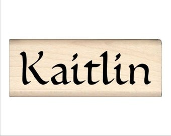 Name Rubber Stamp for Kids  - Kaitlin