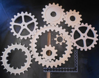 Large Wood Gears / Cogs - Eight (8) of them!