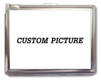 Custom Picture Cigarette Case Lighter Wallet Business Card Holder