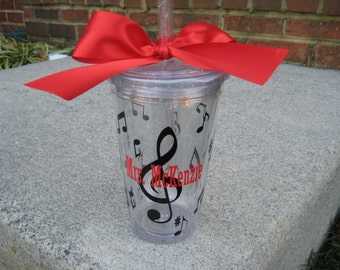 Personalized Music Teacher Tumbler, Band teacher gift, Music tumbler, Choir tumbler, Music director, choir director,