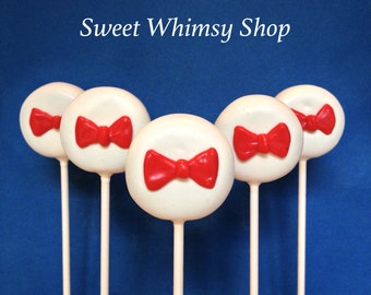 Pastel Yellow Cake Pops With Bow Tie