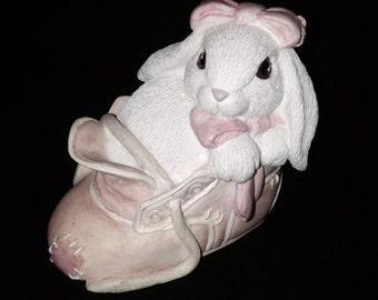 Patchville Bunnies Baby Jessie ceramic rabbit