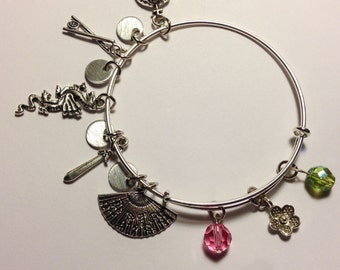 Disney Mulan inspired bangle bracelet