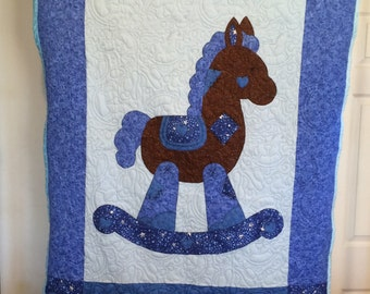 "Custom Made Rock Horse Quilt 45"" x 59"""
