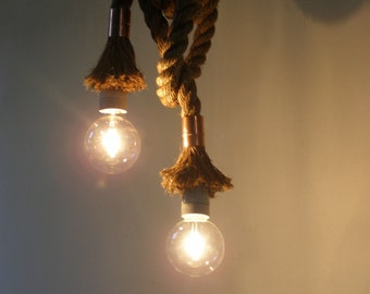 Rope light ,Rope 1.4in(3.5cm), ceiling lamp, Pendant industrial lighting