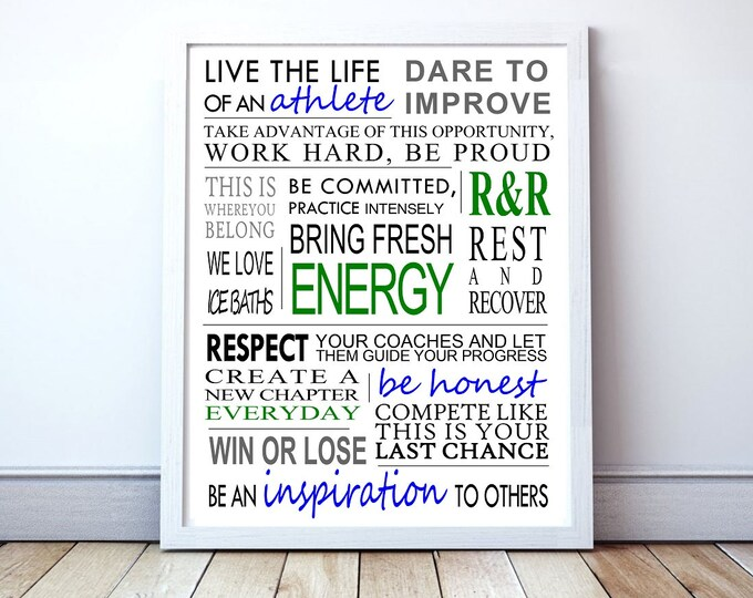 Life Of An Athlete - Custom Manifesto Poster Print