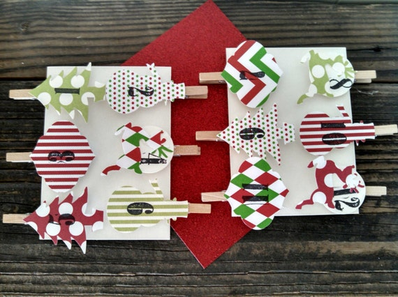 Advent Calendar Diy Kit : Advent calendar christmas clothespins hanging number diy kit