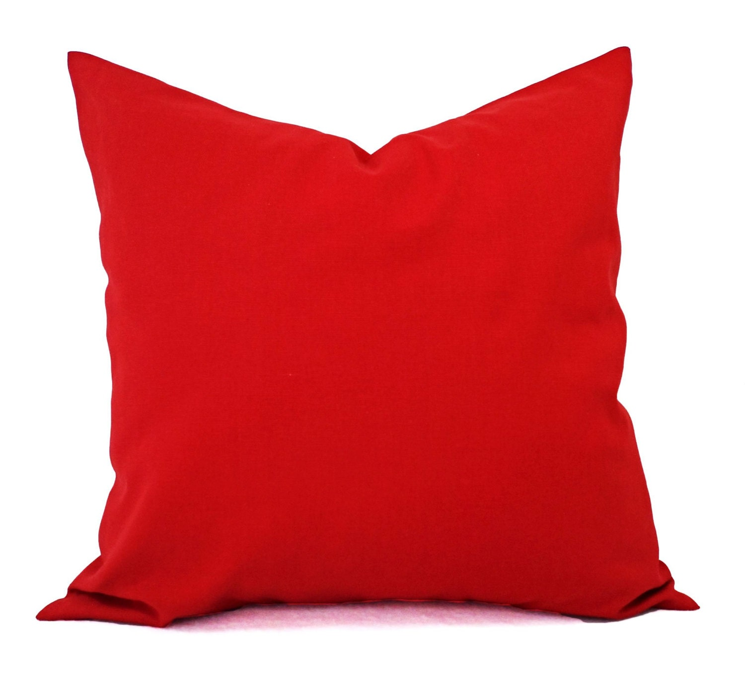 Decorative Pillows For Red Sofa : Solid Red Pillow Covers Red Couch Pillow Covers Two Throw