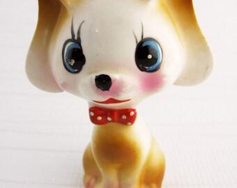 Vintage Dog Figurine, Retro Puppy Figurine, Animal Home Decor