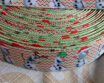 SALE- Olaf Christmas ribbon-Frozen Olaf holiday ribbon-1' grosgain ribbon- crafting ribbon-