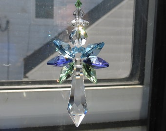 Swarovski Crystal Angel Suncatcher, Guardian Angel, Angel Suncatcher, Home Decoration, Memorial Gift, Housewarming Gift, Home Protection