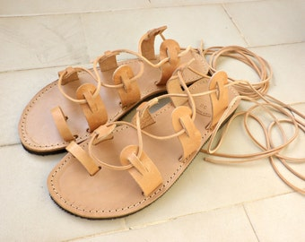 Lace up sandals/ Gladiator sandals/ Womens sandals/ Beach shoes/ Ancient Greek sandals/ Spartan sandals/ Genuine leather sandals