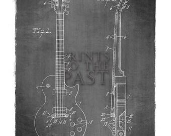 Gibson Les Paul Guitar Patent Print, 1955