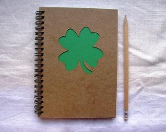 Shamrock Peek-a-boo- 5 x 7 journal- Your choice Peek a boo color