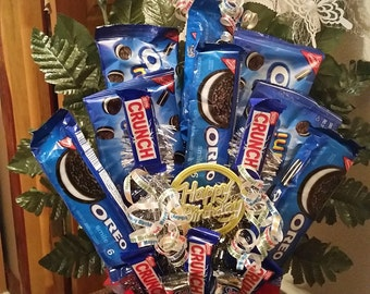 Oreo Cookie & Candy Bouquet Happy Birthday Candy Bouquet Cookie Bouquet Birthday Candy Birthday Bouquet