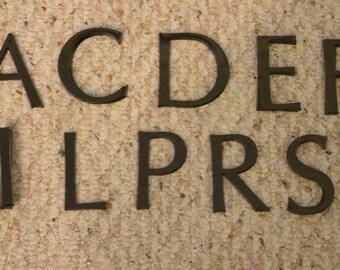 Plexiglass Black Letters.  Various Letters