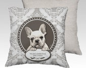 French bulldog velvet cushion cover- dog cushion- dog pillow- dog decor- dog lovers gift-animal cushion-pet cushion-pet decor