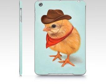 Chick iPad hard case, chick iPad Mini 1 case, cowboy chick ipad case, chick iPad air 1 case, polycarbon ipad case, designer iPad case, chick
