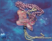 Pink Resin Mythical Mermaid Charm Necklace