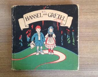 Vintage 1920s Hansel And Gretel Childrens Happy Hour Books Macmillan Illustrated Berta & Elmer Hader
