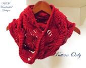 Diamond Infinity Scarf Crochet Pattern for Intermediates and Some Beginners. Crochet Scarf Pattern for Some Beginners and Intermediates