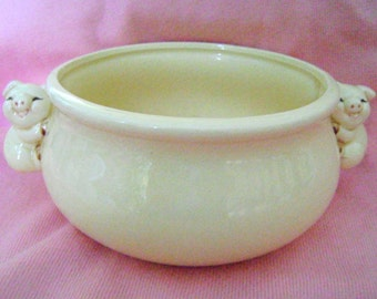Piggy handled soup bowl from the 1950s