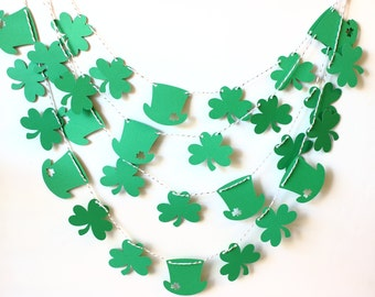 St Patricks Day Garland, St Patricks Banner, St Pattys Decor, Photo Prop, Irish Party Decor, Party Decor, Clover Decoraton, Irish Wedding