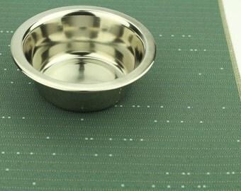 Dog Cat Food Mat, Choose Your Size, Waterproof, Dog Placemat, Cat Placemat, Pet Food Mat, Litter Mat, Non Slip Mat, Durable Mat, Blue Lines