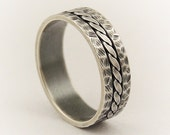 Sterling Silver men's ring - promise ring,unique men gift,thumb ring