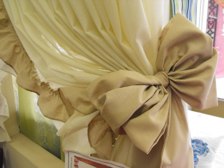 curtain bow tie backs 10 colors curtain tie backs curtain. Black Bedroom Furniture Sets. Home Design Ideas