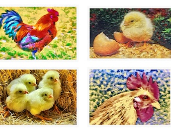 Roosters - Set of 4 Large Placemats
