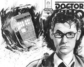 10th Doctor Sketch Cover by Gary Deslauriers