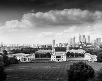 From Greenwich Park; Stunning London panorama 20 x 4.6 inch fine art open edition print