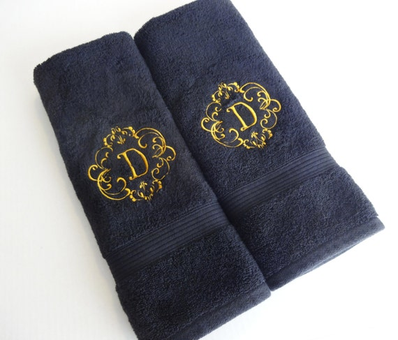 Monogram Towels For Bathroom: Custom Towels Hand Towel Bathroom Personalized Gift