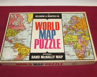 WORLD MAP PUZZLE by Rand McNally Selchow and Righter